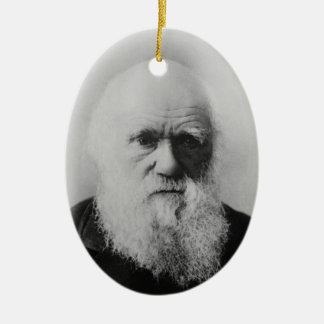 Viejo ateo de Charles Darwin 2 un ornamento oval Adorno Navideño Ovalado De Cerámica