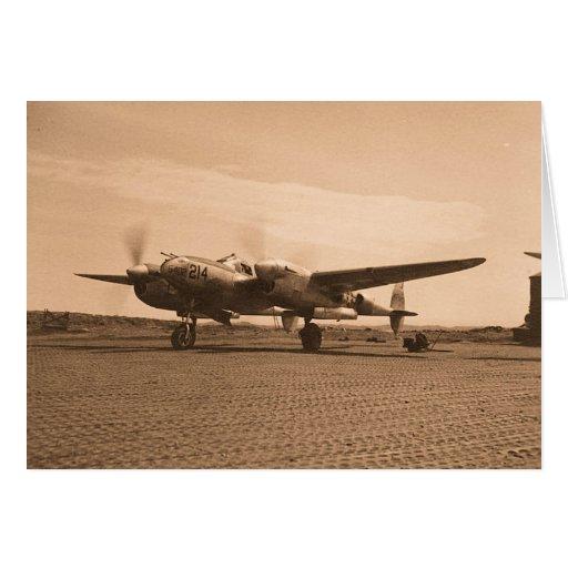 Viejo avión del apoyo tarjeton