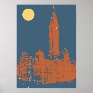 Viejo ayuntamiento Philadelphia Poster