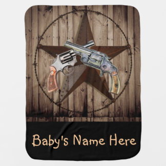 viejo bebé occidental rústico del vaquero mantita para bebé
