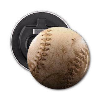 Viejo béisbol abrebotellas redondo