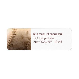 Viejo béisbol etiqueta de remitente