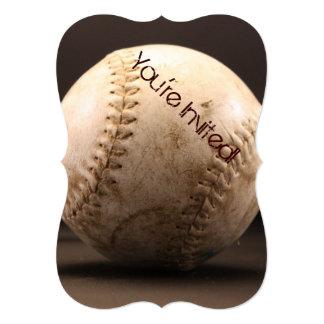 """Viejo béisbol invitación 5"""" x 7"""""""