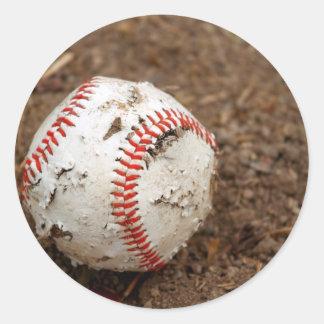 viejo béisbol pegatina redonda