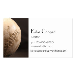 Viejo béisbol tarjetas de visita