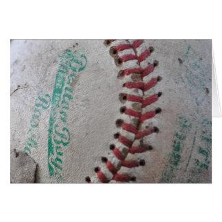 Viejo béisbol tarjeta pequeña