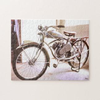 Viejo bicicleta motorizada vintage magnífico puzzles con fotos