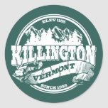Viejo blanco del círculo de Killington Pegatinas Redondas