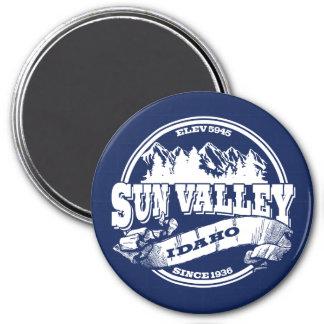 Viejo blanco del círculo de Sun Valley Imán Redondo 7 Cm