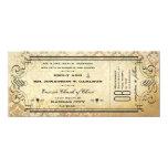 Viejo boda de papel de la tipografía del Flourish Invitación 10,1 X 23,5 Cm