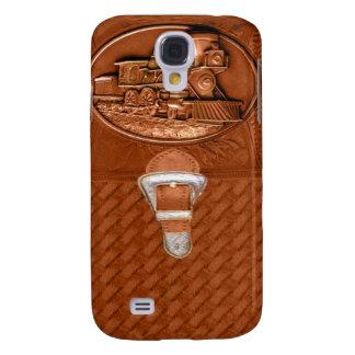 Viejo caso de IPhone 3 del cuero del tren del vapo Funda Para Samsung Galaxy S4