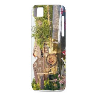 Viejo caso de Iphone de la cascada del molino iPhone 5 Carcasa