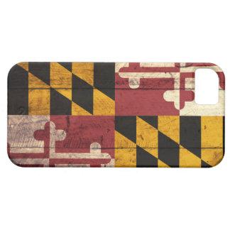 Viejo caso de madera del iPhone 5 de la bandera de iPhone 5 Protector
