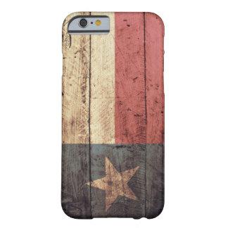 Viejo caso de madera del iPhone 6 de la bandera de