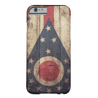 Viejo caso de madera del iPhone 6 de la bandera de Funda Barely There iPhone 6