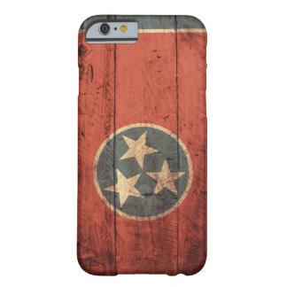 Viejo caso de madera del iPhone 6 de la bandera de Funda De iPhone 6 Barely There