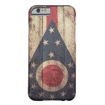 Viejo caso de madera del iPhone 6 de la bandera de Funda Para iPhone 6 Barely There