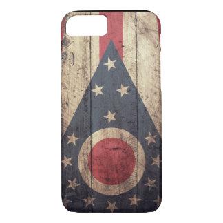 Viejo caso de madera del iPhone 7 de la bandera de Funda iPhone 7