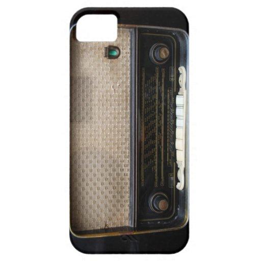 viejo caso de radio del iPhone 5 del vintage iPhone 5 Fundas