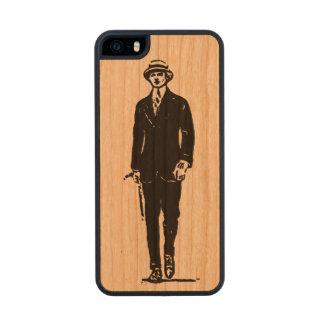 Viejo caso del iPhone 5/5S del caballero de Timey Funda De Cerezo Carved® Para iPhone 5