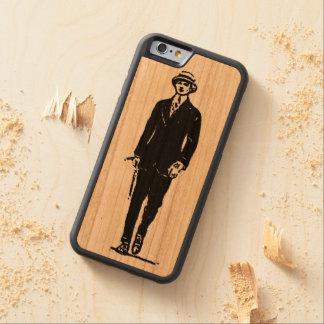 Viejo caso del iPhone 6 del caballero de Timey Funda De iPhone 6 Bumper Cerezo