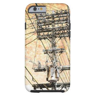 viejo caso del iPhone de las líneas eléctricas Funda Para iPhone 6 Tough