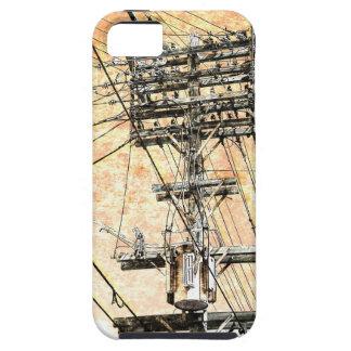 viejo caso del iPhone de las líneas eléctricas iPhone 5 Fundas