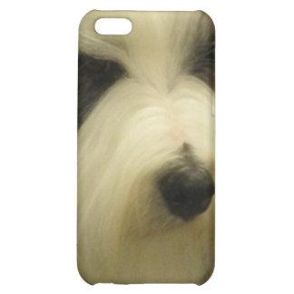 Viejo caso inglés del iPhone 4 del perro pastor