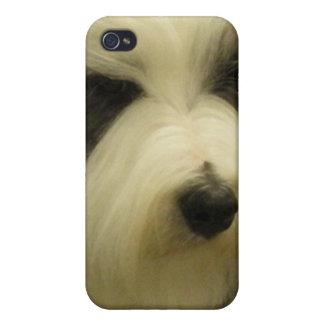 Viejo caso inglés del iPhone 4 del perro pastor iPhone 4 Cobertura