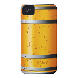 Viejo caso retro del iPhone 4 del barril de cervez iPhone 4 Case-Mate Carcasa