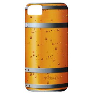 Viejo caso retro del iPhone 5 del barril de cervez