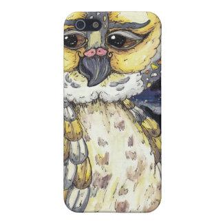 Viejo caso sabio del iPhone del búho iPhone 5 Protector