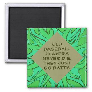 Viejo chiste de los jugadores de béisbol imán cuadrado
