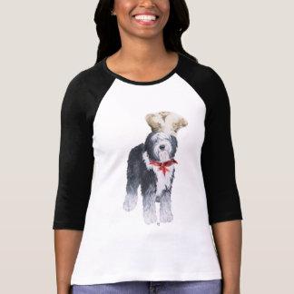 Viejo cocinero inglés del perro pastor del amor camisas