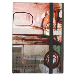 Viejo collage del interior del autobús