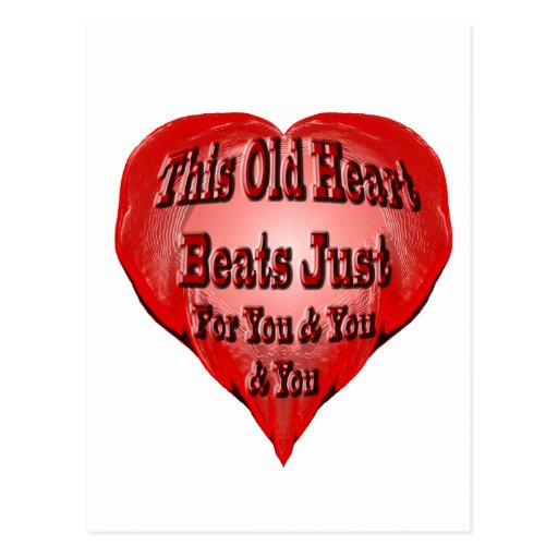 Viejo corazón postales