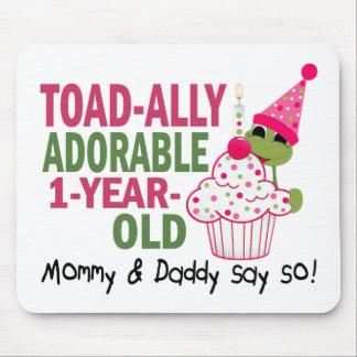 Viejo de un año adorable de Toadally Tapete De Ratones