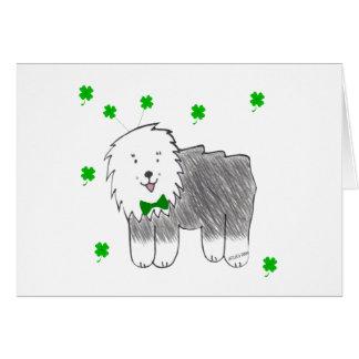 Viejo día inglés de Patricks del santo del perro p Tarjeta De Felicitación