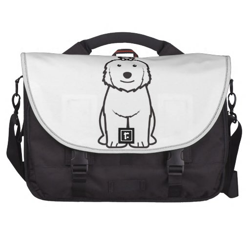 Viejo dibujo animado inglés del perro del perro pa bolsas para ordenador
