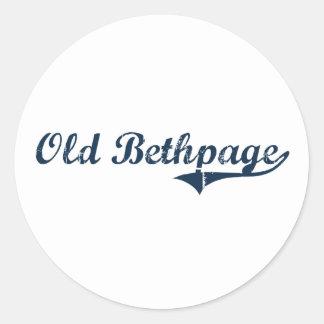 Viejo diseño clásico de Bethpage Nueva York Pegatinas Redondas