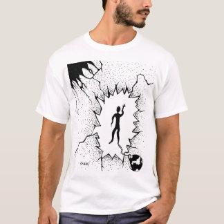 Viejo diseño de la camiseta de bola y de la cadena
