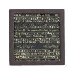 Viejo diseño de la pizarra de la partitura musical cajas de regalo de calidad
