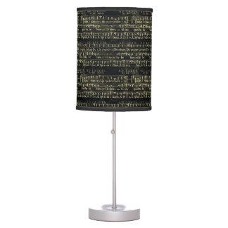Viejo diseño de la pizarra de la partitura musical lámpara de mesilla de noche