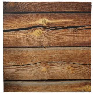 Viejo diseño de madera marrón de la pared servilleta
