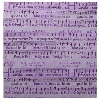 Viejo diseño de papel púrpura de la partitura musi servilleta