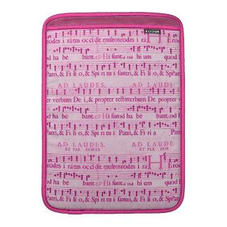 Viejo diseño de papel rosado de la partitura music fundas para macbook air