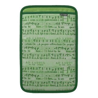 Viejo diseño del Libro Verde de la partitura music Fundas Para Macbook Air