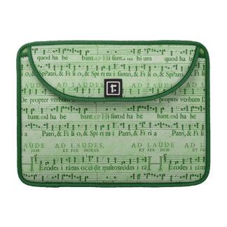 Viejo diseño del Libro Verde de la partitura music Fundas Para Macbook Pro