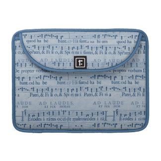 Viejo diseño del papel azul de la partitura musica funda macbook pro