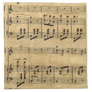 Viejo diseño del papel de pergamino de la partitur servilletas de papel